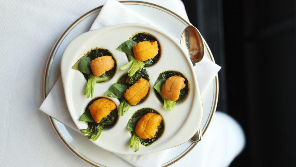 Sea urchin dish